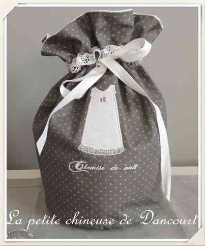Sac rond chemise ancienne