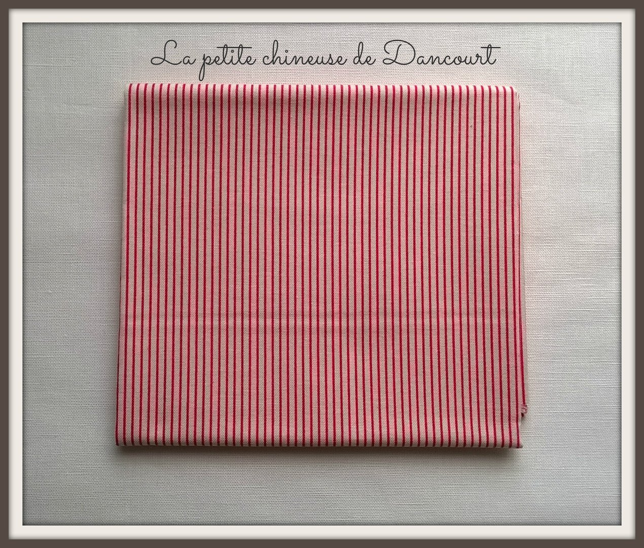 Coupon de tissus Tilda mini stripe red