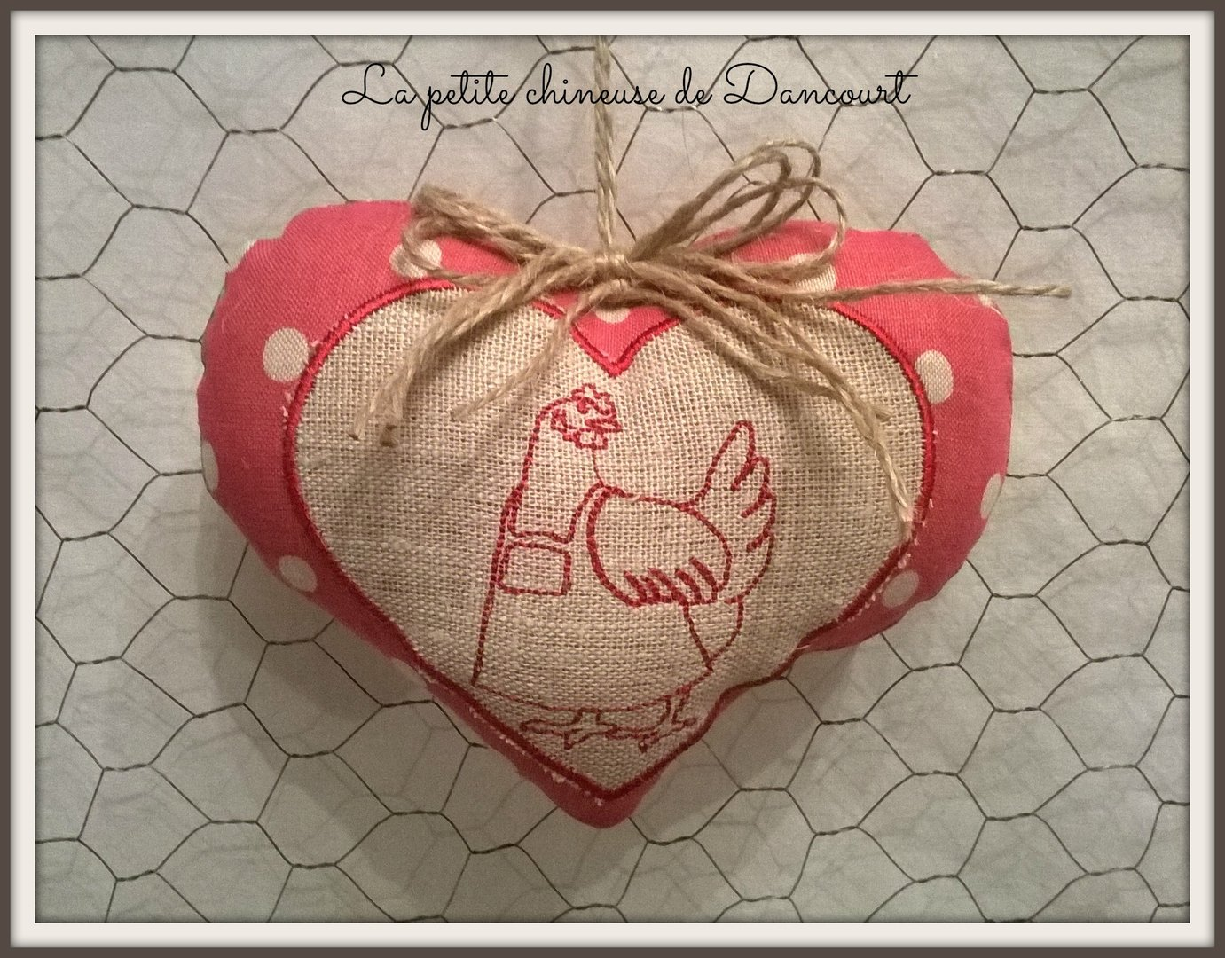 coeur poule moon red