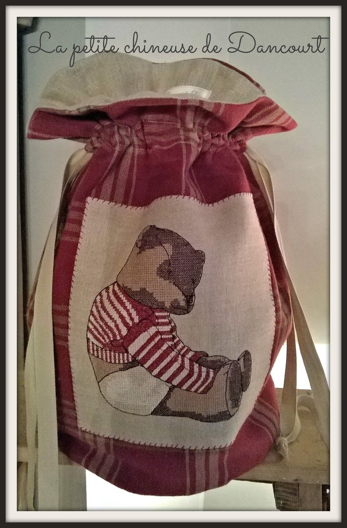 Sac ours ancien rouge