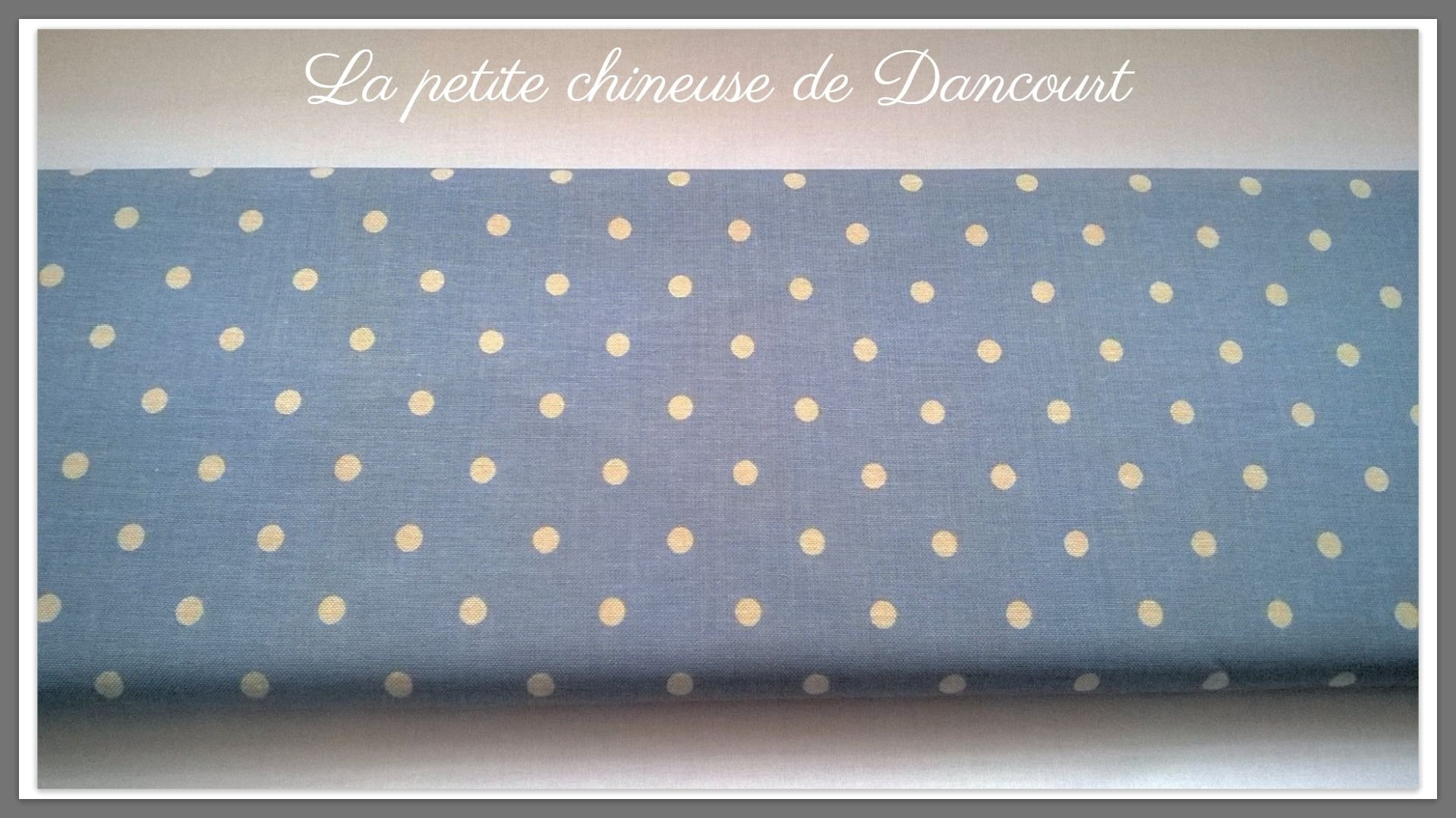 Tissus Mas d'Ousvan Moon chambray blue