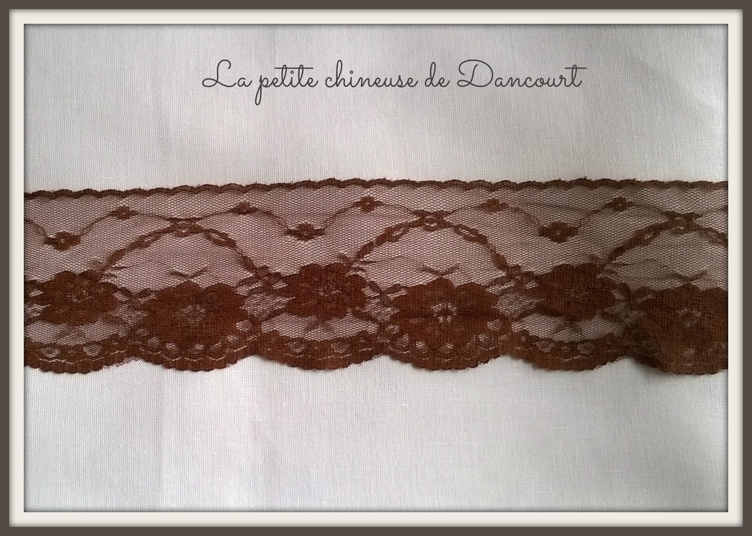 Dentelle de nylon marron