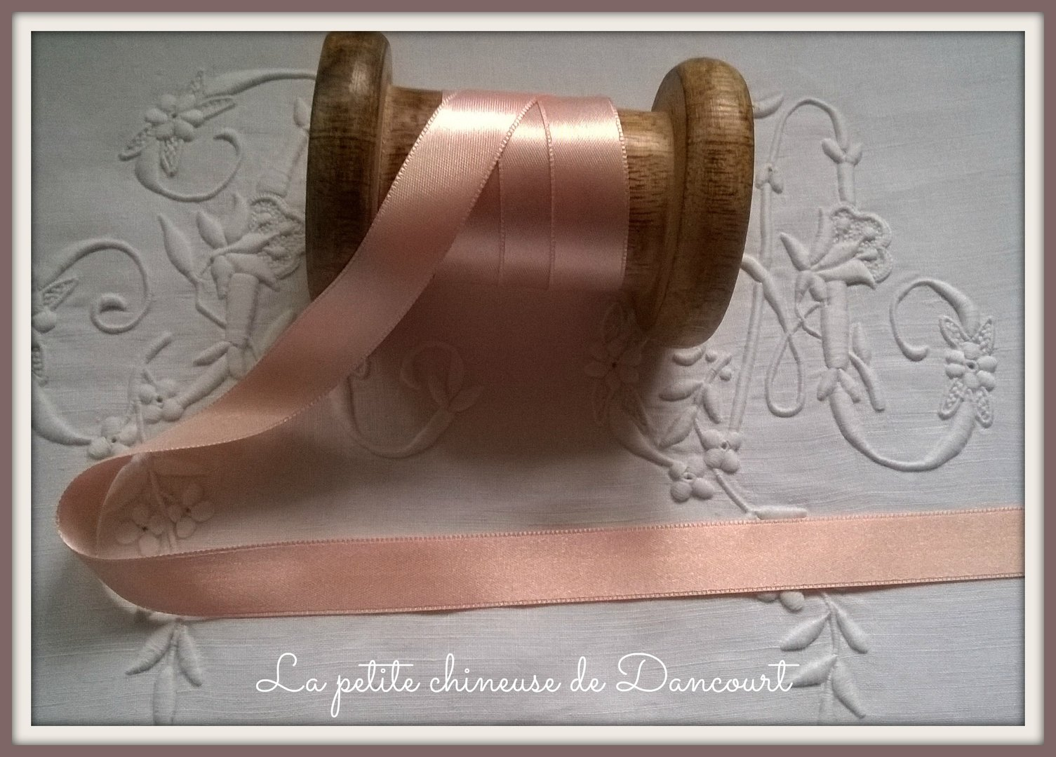 Ruban de satin de 15mm rose 330