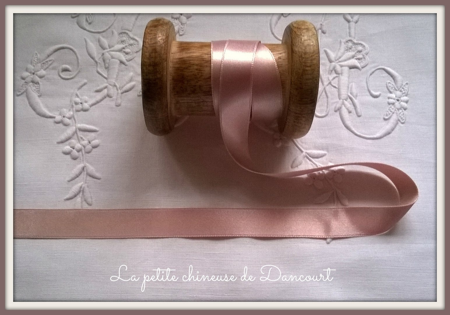 Ruban de satin de 15mm rose 326