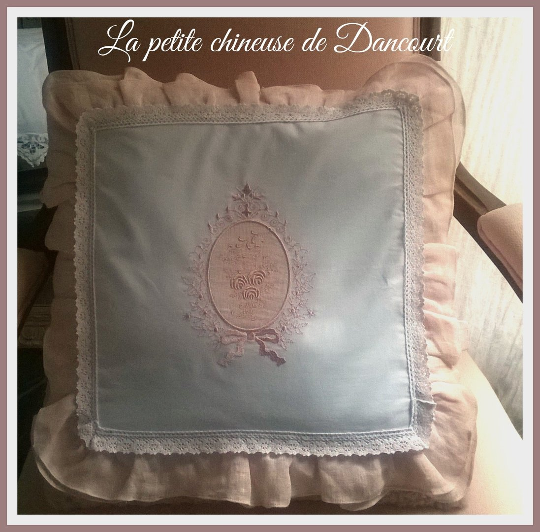 Housse de coussin collection bouquet de roses