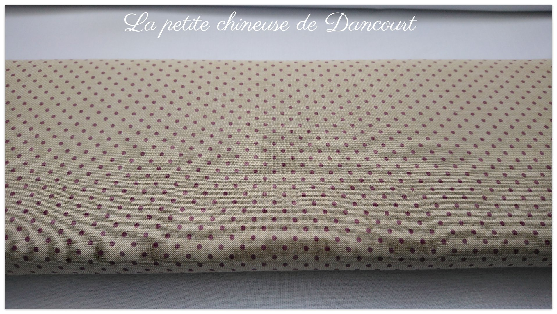 Tissus Mas d'Ousvan Dots chambray purple