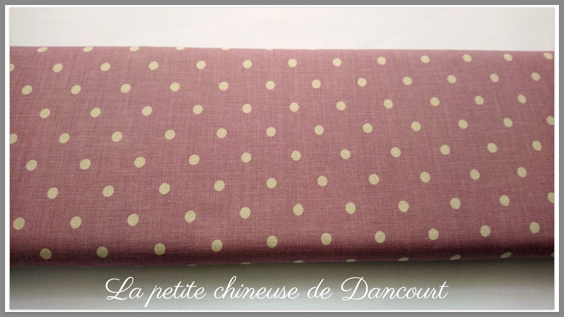 Tissus Mas d'Ousvan Moon Chambray purple