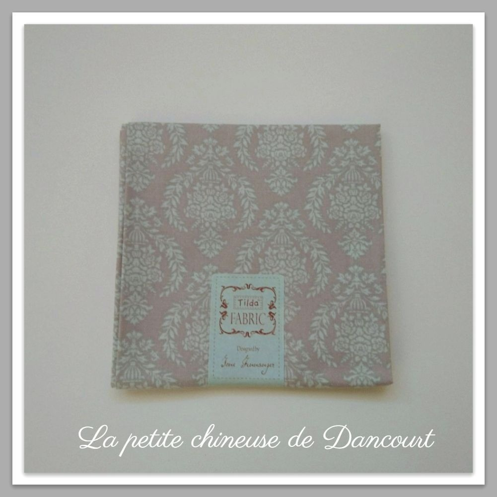 Coupon de tissus Tilda Damask warm grey
