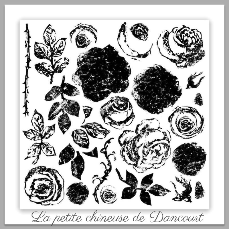 Tampon Iron Orchid Designs (IOD) Painterly Roses