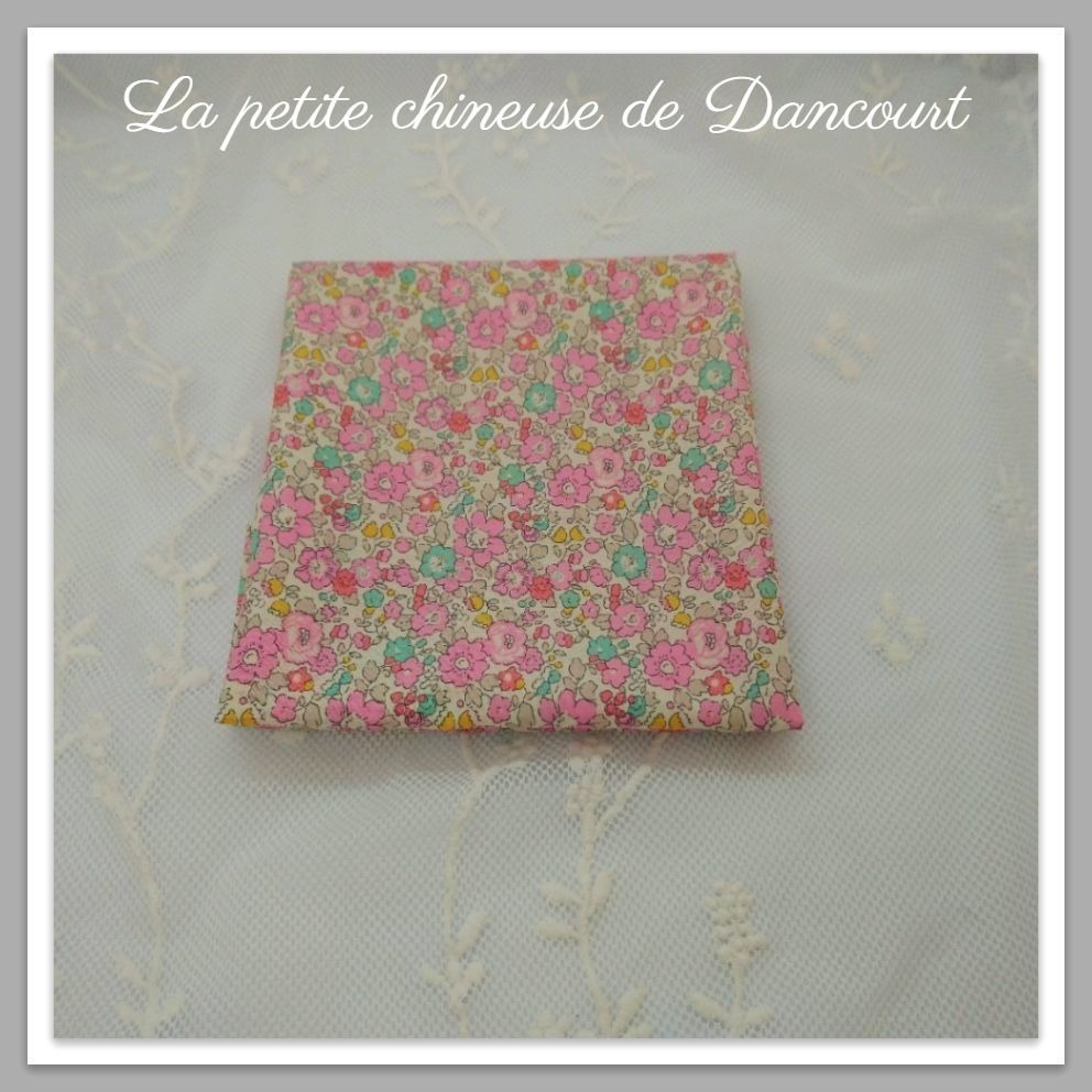 Coupon de tissus Marque Liberty New Betsy Ann rose