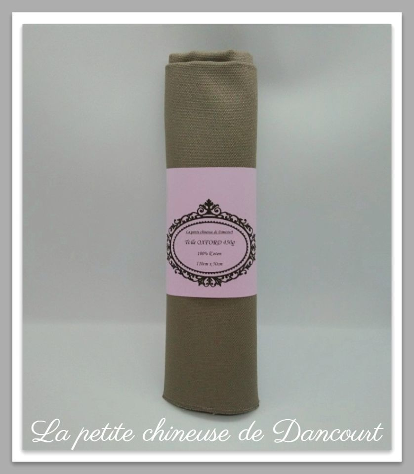 Coupon de toile Oxford taupe