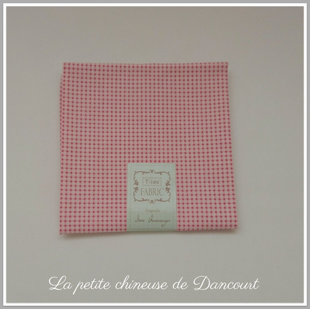 Coupon de tissus Tilda mini Gingham red