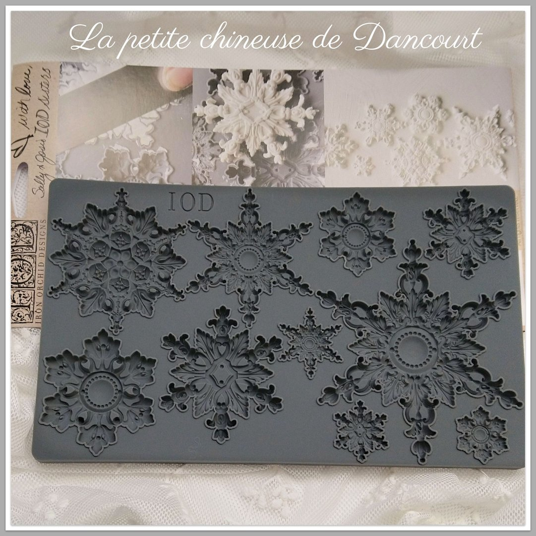 Moule Iron Orchid Design SNOWFLAKES